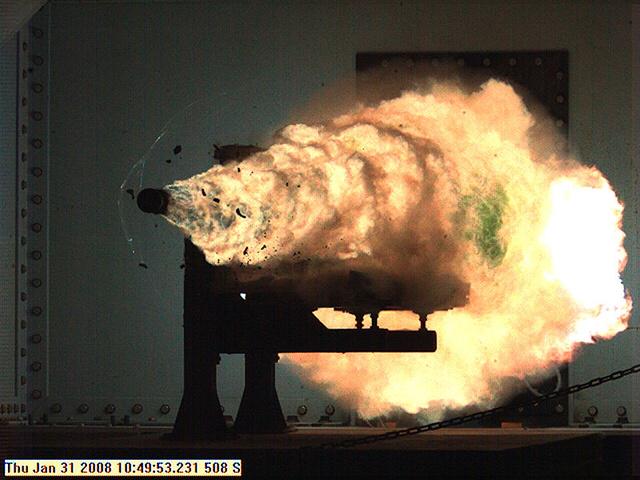 Az amerikai haditengerészet fegyvertesztje 2008-ban