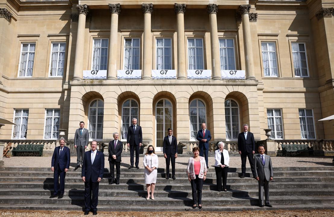 A G7 pénzügyminisztereinek találkozója 2021. június 5-én a londoni Lancaster-házban