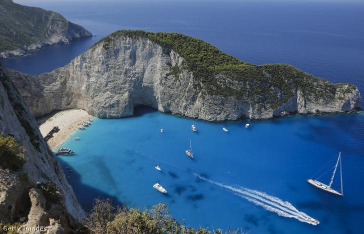 Zakynthos szigete Görögországban 2016. augusztus 6-án