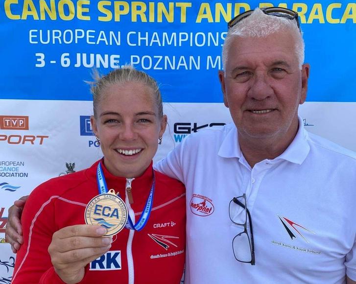 Emma Jörgensen mesterével, Bakó Zoltánnal