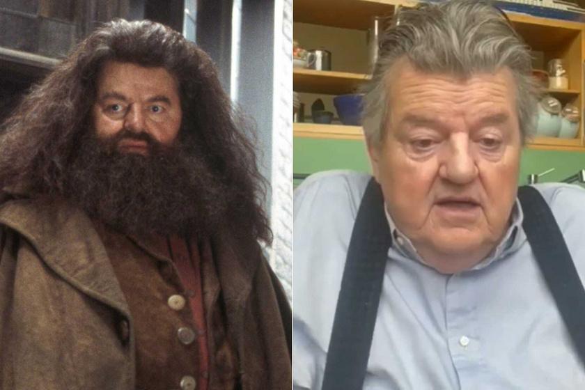 Robbie Coltrane Hagridként a Harry Potter és a bölcsek köve című filmben és 2021-ben egy YouTube-videóban.
