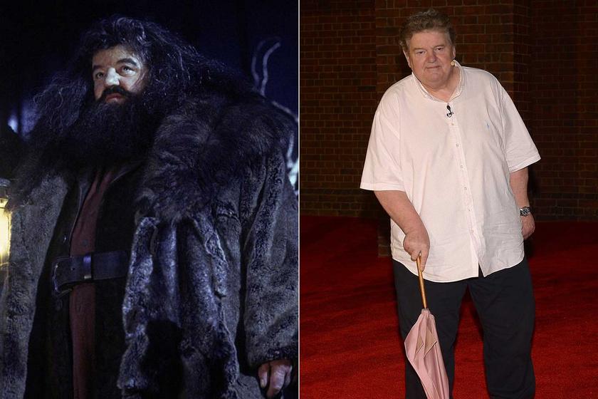 A bal oldali fotó a Harry Potter és az azkabani fogolyból származik, míg a jobb képet 2014-ben készítették róla a The Wizarding World of Harry Potter hullámvasút megnyitóján.