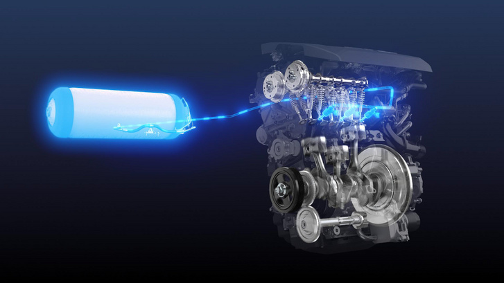 A versenyautóban a Yaris GR 1,6 literes, háromhengeres, turbófeltöltéses motorját etetik hidrogénnel