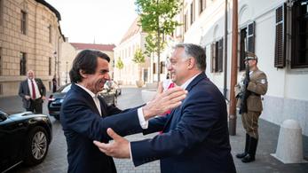 Orbán Viktor fogadta Aznart