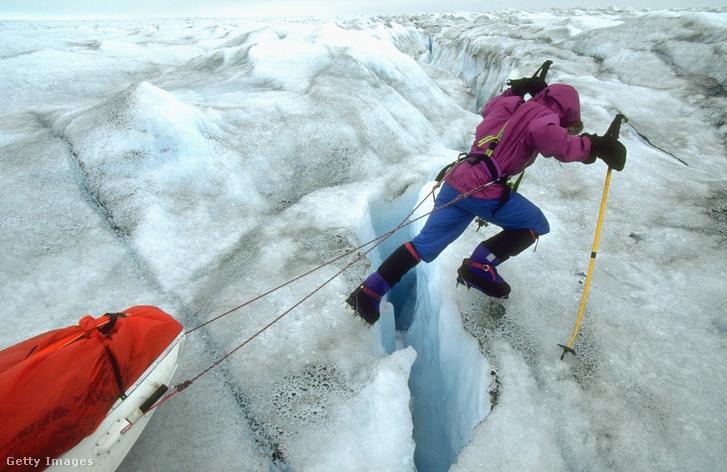 A néhai sarkkutató még a Dél-Grönlandot átszelő expedíciója során