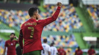 Ronaldo góllal, a portugálok győzelemmel hangoltak az Eb-re
