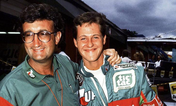 Schumacher és Eddie Jordan, a Jordan csapat tulajdonosa