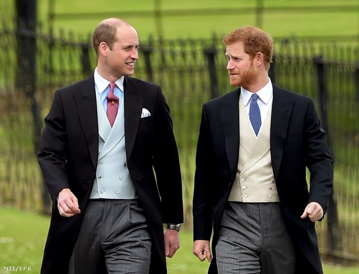 Vilmos és Harry herceg 2017. május 20-án