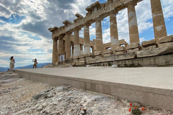 Akadálymentesített rész az Akropolisznál 2021. június 4-én