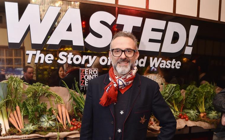 Massimo Bottura New Yorkban egy eseményen 2017-ben. Kattintson a képre a fotó teljes verziójáért!