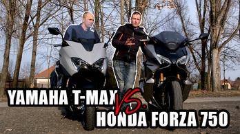 Videó: Honda Forza 750 vs. Yamaha TMAX 560