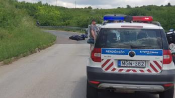 Szörnyethalt a motoros, aki autóval ütközött Egernél