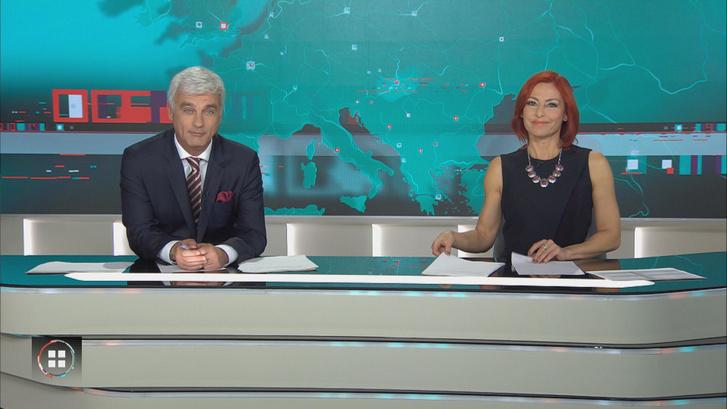 Erős Antónia és Szellő István az RTL Klub híradójának egyik adásában