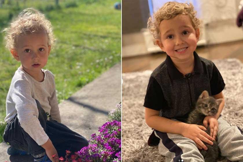 A bal oldali kép 2020 áprilisában, a jobb oldali 2021 januárjában. Kristóf arcán a babás vonásokat a kisfiúsak váltották fel. Már nagyon megy neki, hogyan kell mosolyogni a kamerába.