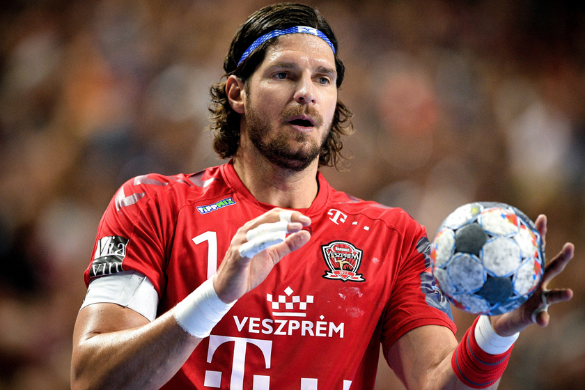 Nagy László a Telekom Veszprém és a lengyel Vive Kielce mérkőzésén a férfi kézilabda Bajnokok Ligája elődöntőjében Kölnben 2019. június 1-jén.