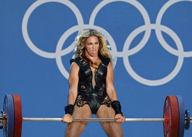 Beyoncé, mint súlyemelő bajnok