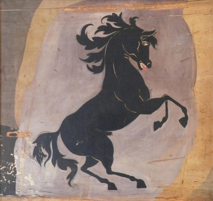 Így nézett ki eredetiben a Baracca SPAD S.XIII-asára  festett ágaskodó lovacska