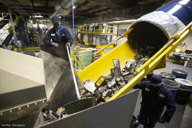 Lítiumion akkumulátorok feldolgozása Kanadában