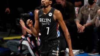 Kevin Durant félelmetes teljesítménnyel juttatta előnyhöz a Brooklynt