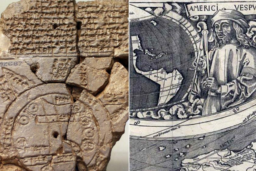 A történelem legérdekesebb térképei: az i. e. 6. századi Babilonban készült ábrán különös feliratok olvashatók