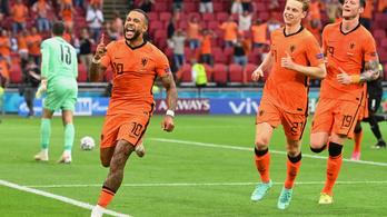 Hollandia könnyedén begyalogolt a nyolcaddöntőbe