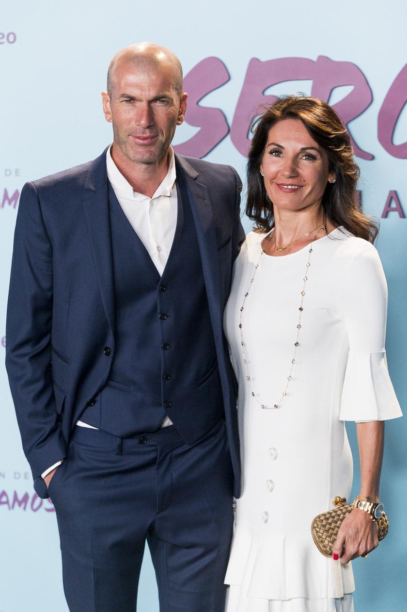 Zidane és Véronique nagyon szép párt alkotnak.