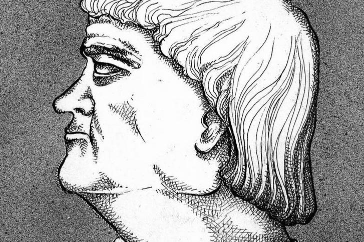 Bakócz Tamás arcképe, Muhi Sándor grafikus rajza