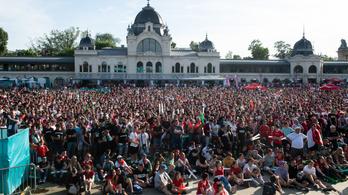 Több mint 33 ezer ember fordult meg a városligeti szurkolói zónában kedden