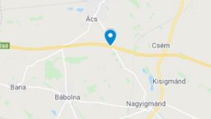 Baleset miatt teljes pályazár az M1-es autópályán a Győr felé vezető oldalon
