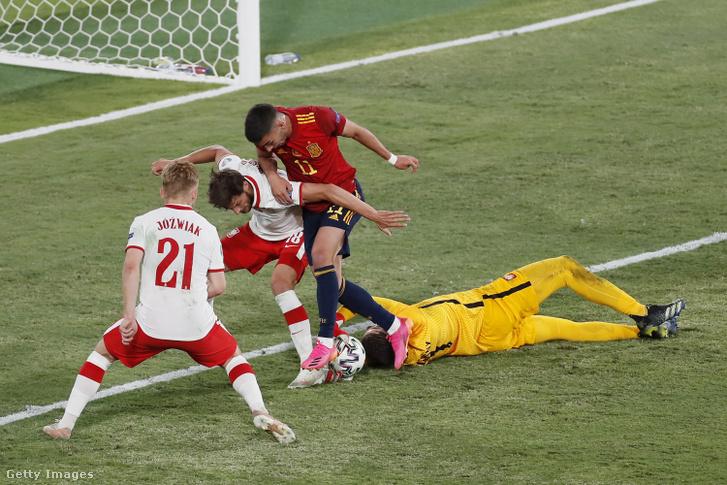 Ezt a helyzetet sem tudták gólra váltani a spanyolok