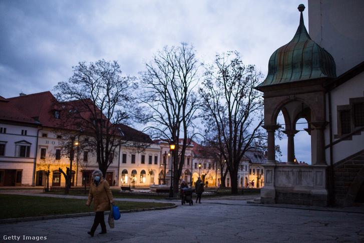 Levoca városa Szlovákiában 2020. december 5-én
