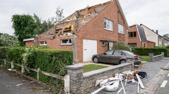 Tornádó pusztított Belgiumban, többen megsérültek