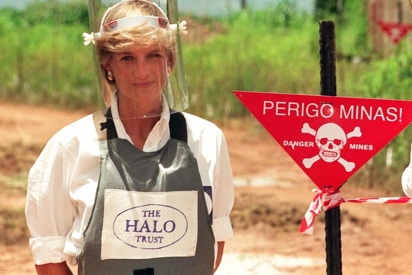 Diana hercegnő a taposóaknák betiltásáért kampányolt életének utolsó évében.