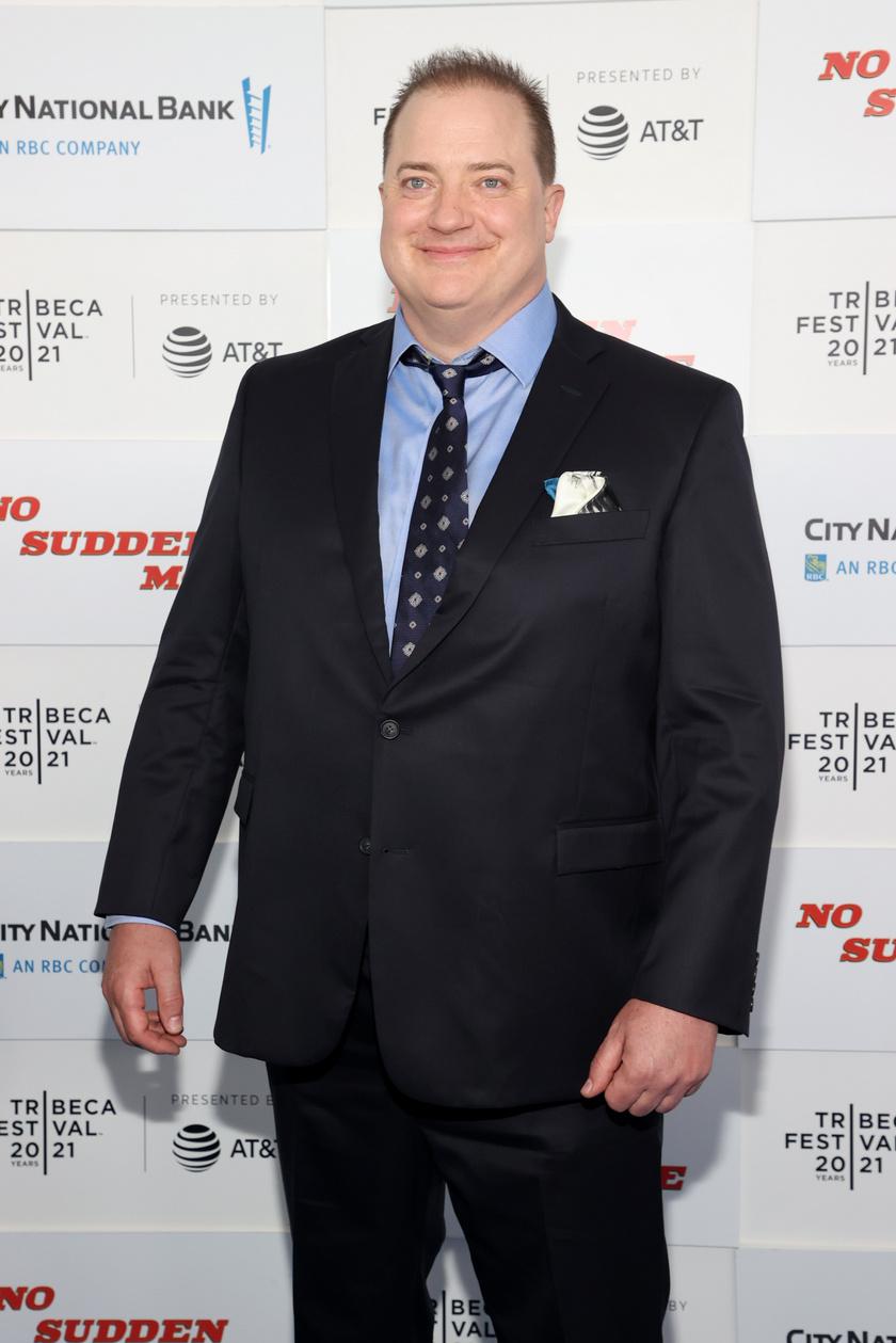 Brendan Fraser a 2021-es 2021 Tribeca Fesztiválon jelent meg a No Sudden Move című film premierjén.