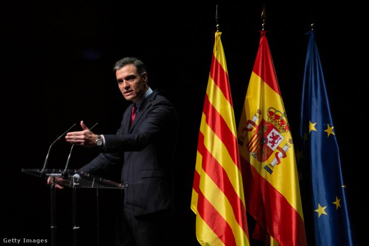 Pedro Sánchez spanyol miniszterelnök