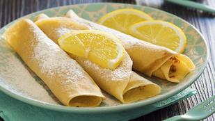 Ricotta-citrom palacsinta – remek nyári desszert, ami hidegen is finom