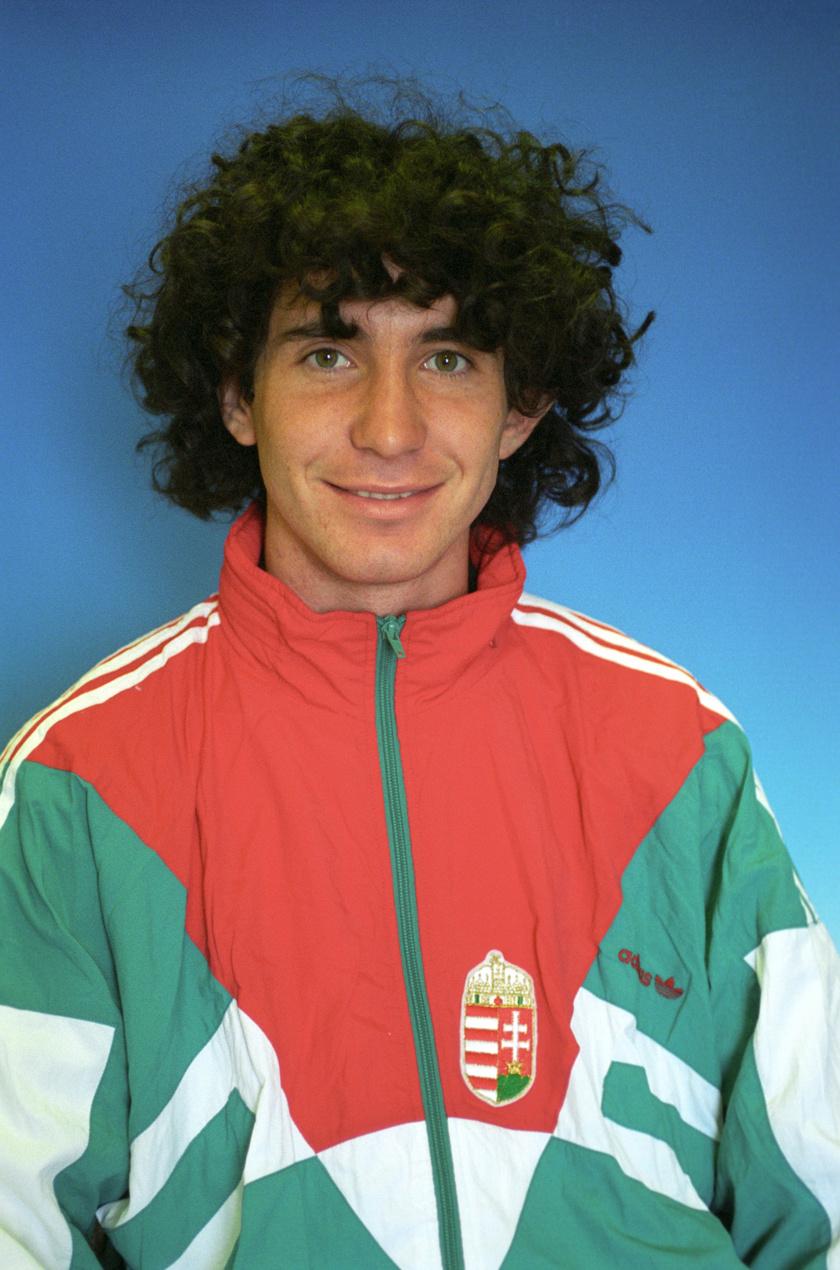 Lisztes Krisztián labdarúgó, a magyar olimpiai keret tagja 1996 áprilisában.