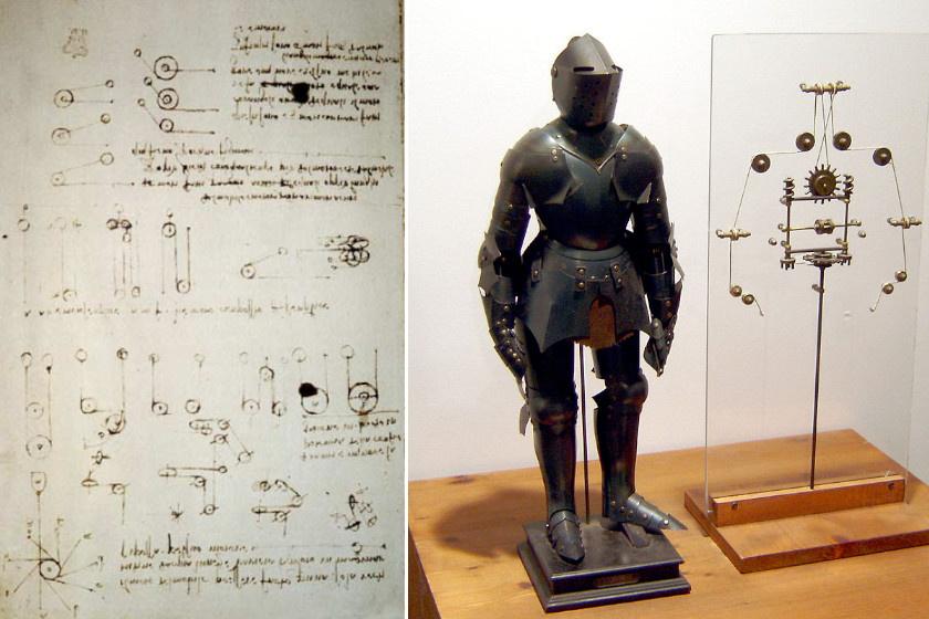 A robotlovag az automatizálás egy korai példája volt, amit számos csiga és kar mozgatott meg. Követte az emberi izomzat felépítésének elveit. Karját és fejét is tudta mozgatni. 1495-ben, ünnepélyes keretek közt mutatták be Ludovico Sforza herceg gáláján.
