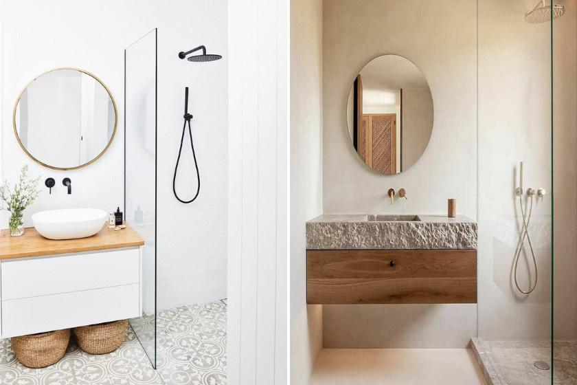 Kád helyett szereltess be zuhanyozót: ezzel sok helyet spórolhatsz. Ha üvegfalasat választasz, akkor a tér nagyobbnak tűnik. Ha a zuhanyzó a sarokba kerül, még több hely szabadul fel.