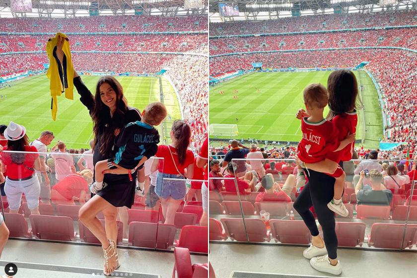 Gulácsi Péter felesége a kisfiukkal szurkolt a Puskás Arénában a portugálok és a franciák ellen játszott mérkőzésen is. A kis Dominik éppen a német-magyar meccs napján, 2021. június 23-án lett kétéves.