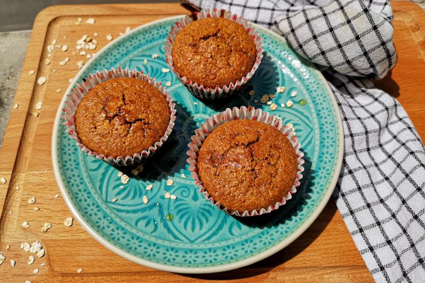 mézes zablisztes muffin reept