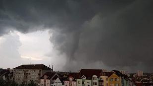 Kegyetlen pusztítást végez a tornádó a cseh–szlovák határon