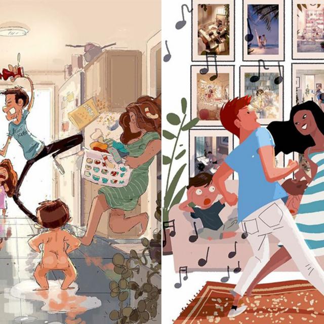 Milyen az élet három gyerekkel és egy feleséggel? Az apa őszinte képei tarolnak az Instagramon