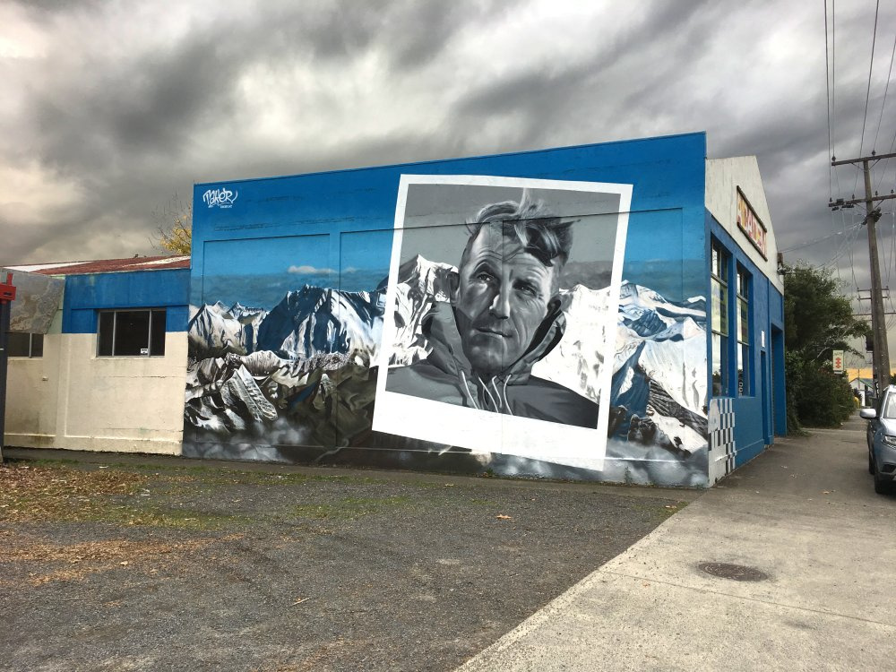 Edmund Hillary-portré, Új-Zéland