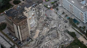 Négy halott, 159 eltűnt a hatalmas floridai házomlásban