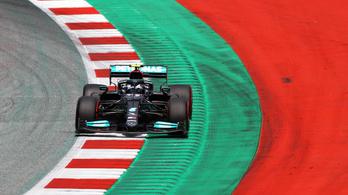 Bottas a bokszutcában pördült meg az F1-es szabadedzésen