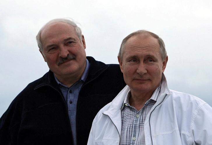 Alekszandr Lukasenka és Vlagyimir Putyin Szocsiban 2021 május 29-én