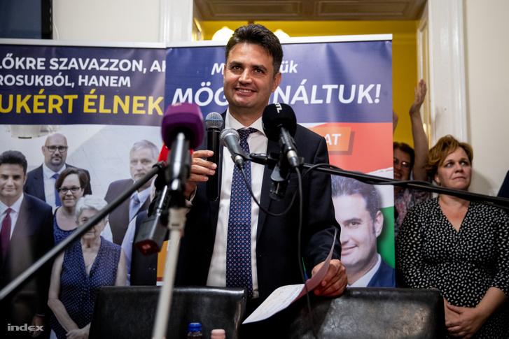 Márki-Zay Péter a hódmezővásárhelyi önkormányzati választáson 2019. október 13-án