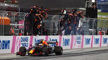 Max Verstappen rajt-cél győzelmet aratott a Stájer Nagydíjon