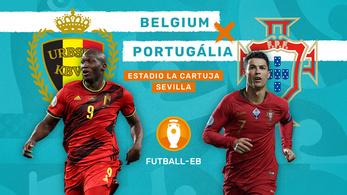 Top favorit ellen az Eb-címvédő: Belgium–Portugália
